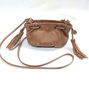 La Bagagerie Small Brown Leather Crossbody Bag